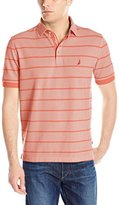Nautica Men's Striped Oxford Polo Shirt