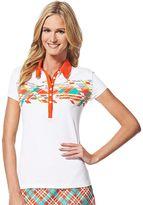 Women's Grand Slam Printed Golf Polo
