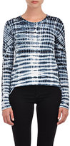 Proenza Schouler Women's Tie-Dyed Long-Sleeve T-Shirt-BLACK