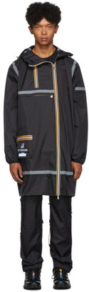 K-Way Afterhomework Black Edition Eiffel Multi Pocket Raincoat