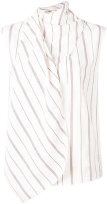 Joseph Wrap Style Striped Blouse