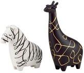 Kate Spade Woodland Park Zebra and Giraffe Salt & Pepper Set