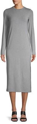 Vince Long-Sleeve Crewneck Knit Dress