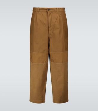 Comme des Garçons Homme Cropped cotton pants