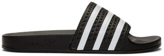 adidas Black and White Adilette Slides