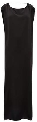 Thea - The Gaia Cowl-back Silk-georgette Maxi Dress - Black