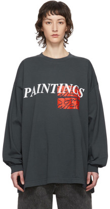 Some Ware Grey Paintings New Body Long Sleeve T-Shirt