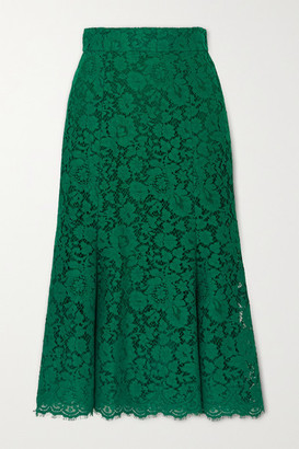 Dolce & Gabbana Corded Lace Midi Skirt - Green