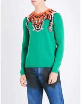 Gucci Tiger Jacquard-knitted Wool Jumper