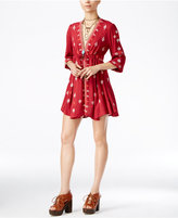 Free People Star Gazer Embroidered Peasant Dress