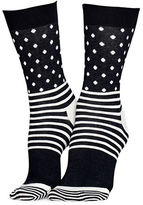 Happy Socks Dot and Stripes Crew Socks