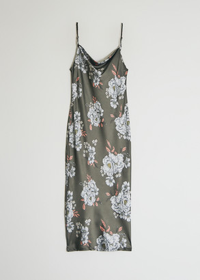 Stelen Women's Veronika Floral Dress in Olive, Size Extra Small | Spandex