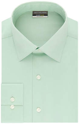 Van Heusen Always Tucked Regular Fit Mens Point Collar Long Sleeve Wrinkle Free Stretch Dress Shirt
