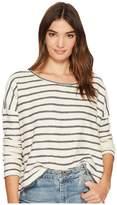 BB Dakota Allyson Striped French Terry Drop Shoulder Top Women's Clothing