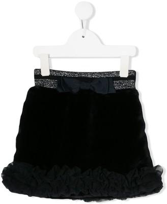 Lapin House Ribbon-Detail Mini Skirt