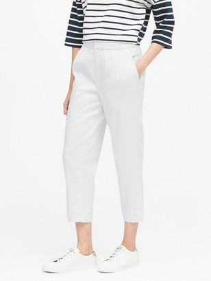 Banana Republic High-Rise Tapered Linen-Cotton Pant