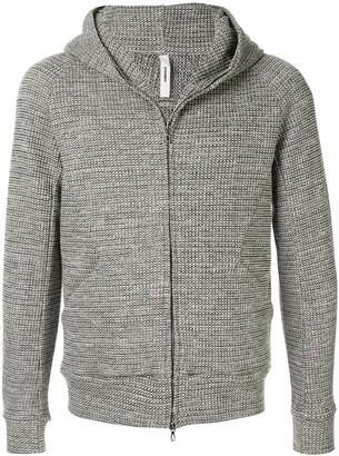 Attachment textured flannel hoodie