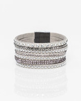 Le Château Gems & Suede-Like Magnetic Bracelet