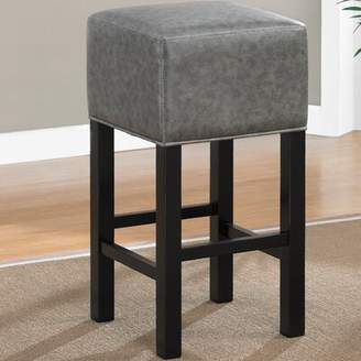 "American Heritage Delmar Bar & Counter Stool Seat Height: Bar Stool (30"" Seat Height), Finish/Color: Black / Charcoal"
