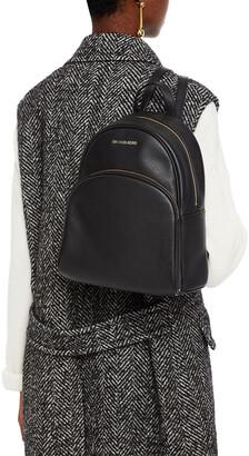 MICHAEL Michael Kors Abbey Pebbled-leather Backpack