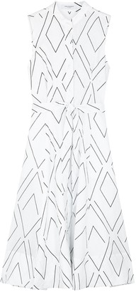 Equipment Clevete printed linen midi dress