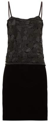 Saint Laurent William Vintage 1985 Sequinned Top And Velvet Skirt - Womens - Black