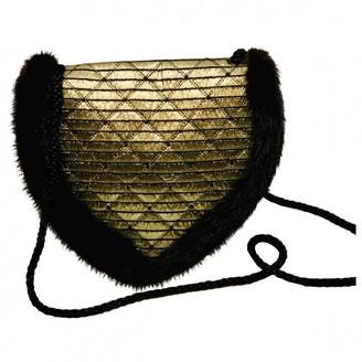 Jean Louis Scherrer Jean-louis Scherrer Gold Mink Handbags