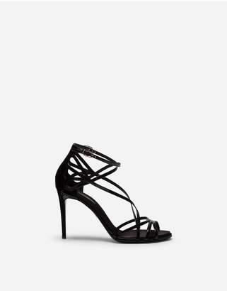 Dolce & Gabbana Polished Calfskin Sandals