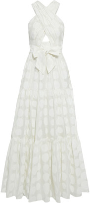 Ulla Johnson Fontaine Gathered Polka-dot Cotton And Silk-blend Organza Gown