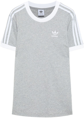 adidas Embroidered Melange Cotton-jersey T-shirt