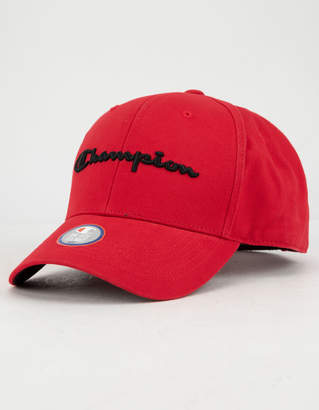 Champion Classic Twill Red Mens Strapback Hat
