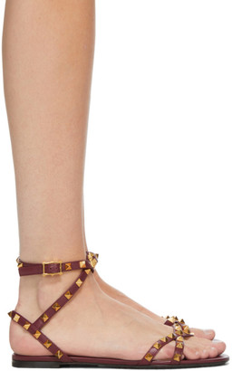 Valentino Red Garavani Rockstud Cross Flat Sandals