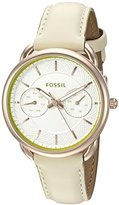 Fossil Women's ES3954 Tailor Multifunction Light Brown Leather Watch