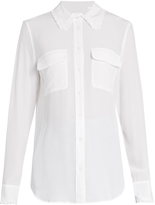 Equipment Signature ruffle-trimmed silk shirt