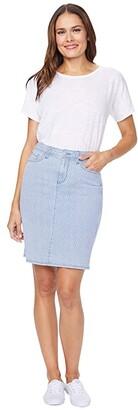 NYDJ Denim Skirt in Trella (Trella) Women's Skirt