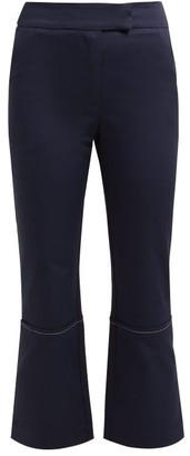 ZEUS + DIONE Aristo Cotton-blend Cropped Trousers - Navy