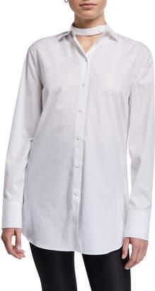 Valentino Bubble-Hem Button-Down Shirt