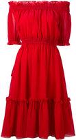 Alexander McQueen off the shoulder dress - women - Silk/Cotton - 38