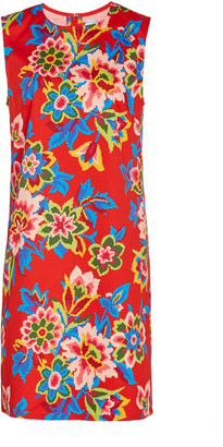 Carolina Herrera Floral-Print Stretch-Cotton Sheath Dress