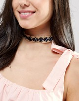 Asos Raffia Flower Choker Necklace