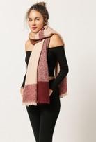 Azalea Plaid Fray Blanket Scarf