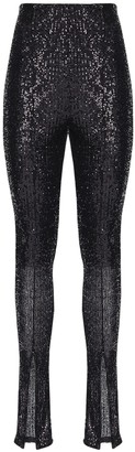 Rotate by Birger Christensen Alicia High Waist Sequined Pants