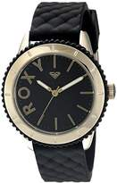 Roxy The Del Mar Women's Quartz Watch with Black Dial Analogue Display and Black Silicone Strap RX/1013BKRG