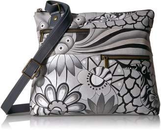 Anuschka Anna By Anna by Hand Painted Leather Large Crossbody