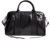 Rebecca Minkoff Vanity Leather Zip Satchel - Black