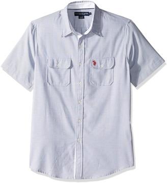 U.S. Polo Assn. Men's Two Pocket Fit Stripe Plaid or Print Sport Shirt