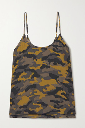 ATM Anthony Thomas Melillo Camouflage-print Silk Camisole - Brown