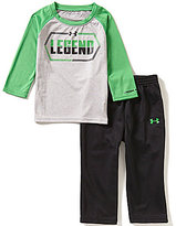 Under Armour Baby Boys 12-24 Months Legend Long-Sleeve Jersey Tee & Tricot Pant Set
