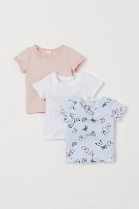 H&M 3-pack cotton T-shirts