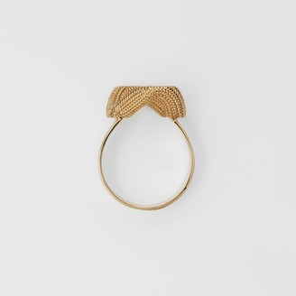 Burberry God-pated Chain-ink Ring